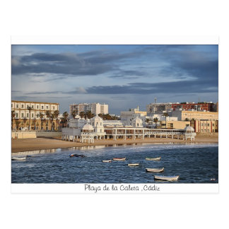 Beach of the Creek, Cadiz Postcard