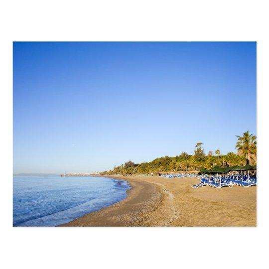 Beach on Costa del Sol in Marbella Postcard