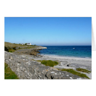 beach on Inis Mor, Aran Islands Card