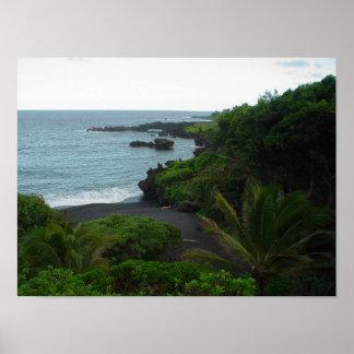Beach on the Road to Hana, Maui Hawaii Poster