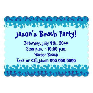 Beach or Pool Party Invitation
