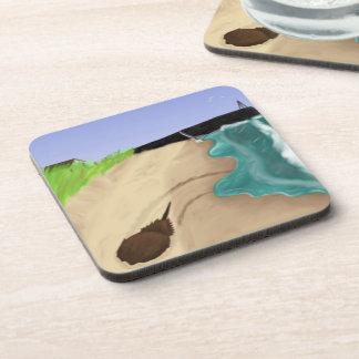 Beach Painting Coasters