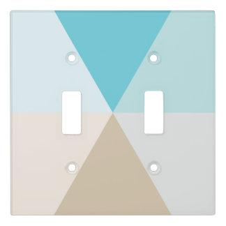 Beach palette geometric ocean theme decor light switch cover