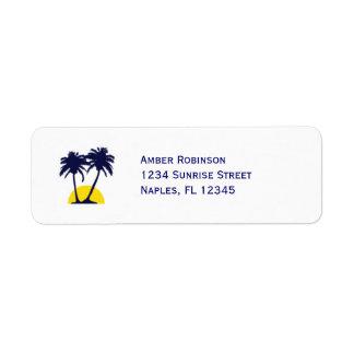 Beach Palm Tree Address Avery Label Return Address Label