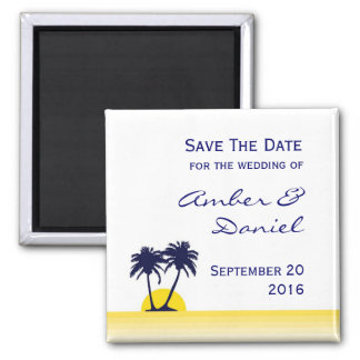 Beach Palm Tree Save the Date Magnet