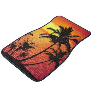 Beach Palm Tree Scenic Design Car Mat