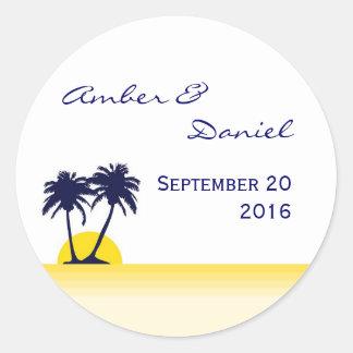 Beach Palm Tree Sticker