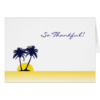 Beach Palm Tree Thank You Card