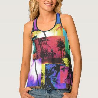 Beach Palm Tree, Women's  Racerback Tank Top