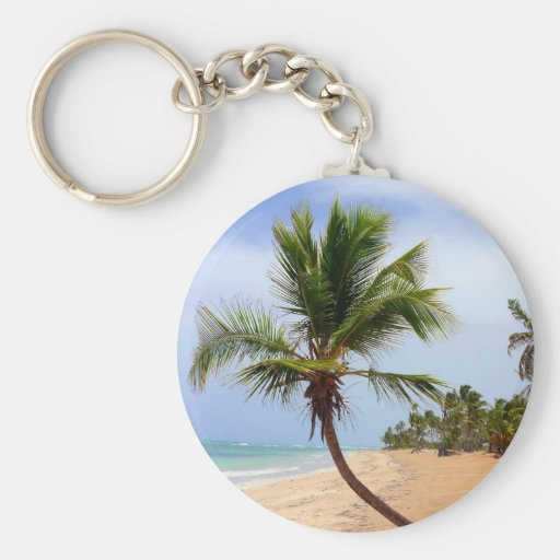 Beach Palm Trees Keychain
