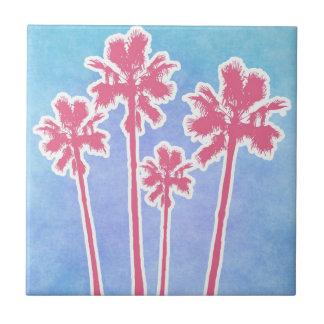 Beach Palm Trees Tile