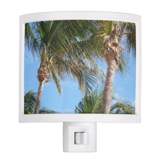 Beach Palm Trees Tropical Relaxing Nature Nite Light