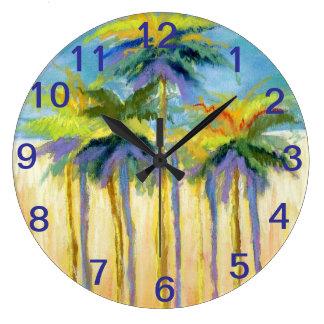 Beach Palms- clock