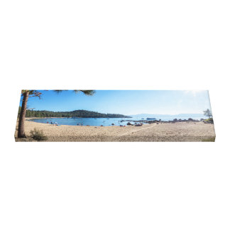 beach panorama, Lake Tahoe panorama, panoramas Canvas Print