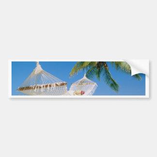 Beach Paradise Vacation Hammock Bumper Sticker