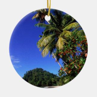 Beach Paria Trinidad Ceramic Ornament