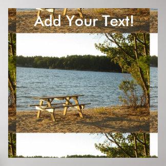 Beach Park Bench Poster