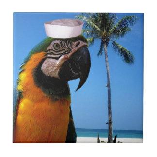 Beach Parrot Ceramic Tiles