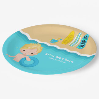 beach party 9 inch paper plate