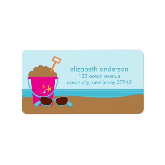 Beach Party Address Labels