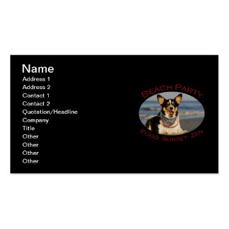 Beach Party Double-Sided Standard Business Cards (Pack Of 100)