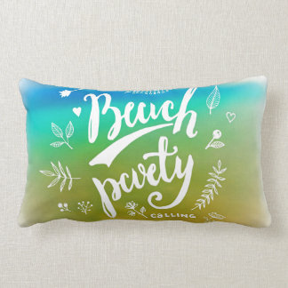 Beach Party Calling Lumbar Pillow