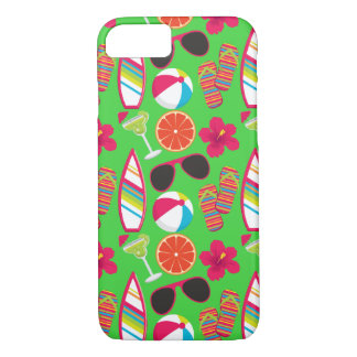 Beach Party Flip Flops Sunglasses Beach Ball Green iPhone 7 Case
