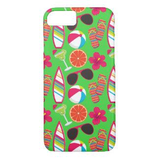 Beach Party Flip Flops Sunglasses Beach Ball Green iPhone 8/7 Case