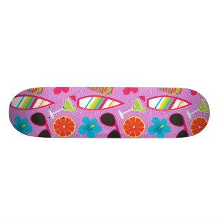 Beach Party Flip Flops Sunglasses Beachball Purple Custom Skate Board
