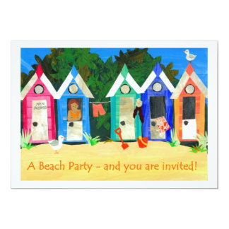 Beach Party Invitation - Beach Huts