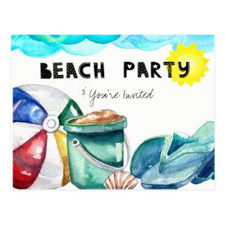 Beach Party Invite Postcard
