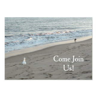 """Beach Party Invittation can be Personalized 5"""" X 7"""" Invitation Card"""