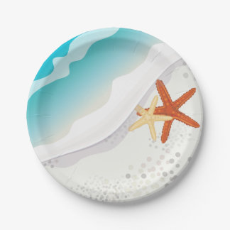 Beach Party Paper Plate