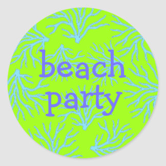 BEACH PARTY PICNIC STICKERS
