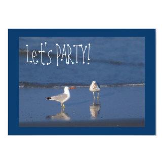 Beach Party Seagulls! Card