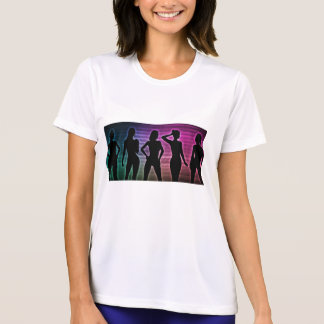 Beach Party Silhouette of Women Standing in Bikini T-Shirt