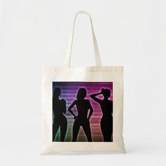 Beach Party Silhouette of Women Standing in Bikini Tote Bag