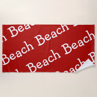 Beach Pattern Red And White Beach Towel