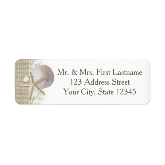 Beach Pearls and Lace Return Address Label