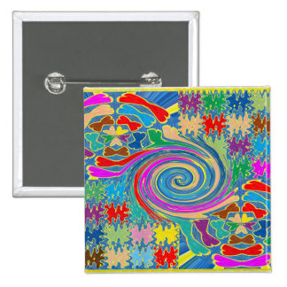 Beach Pebbles Butterfyl Whirlwind Waves Tornado 2 Inch Square Button