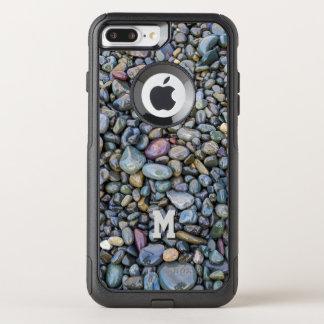 Beach Pebbles custom monogram phone cases