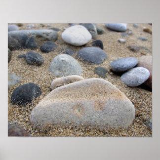 Beach Pebbles Poster Print