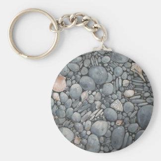 Beach Pebbles Rocks River Keychain