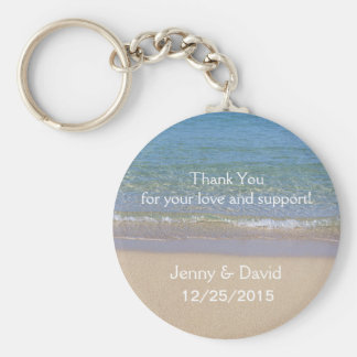 Beach Personalized Key Ring Wedding Favor