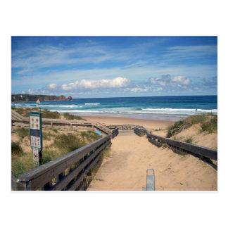 beach philip island australia postcard