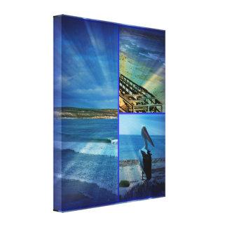 Beach Photo Collage, Canvas Print