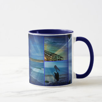 Beach Photo Collage, Mug