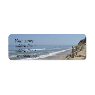 Beach photo return address label