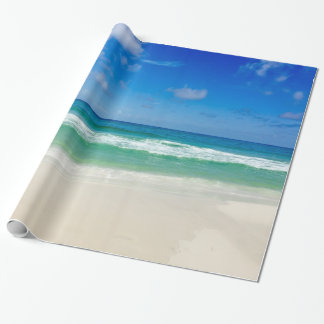 Beach Photography Blue Skies With Waves Wrapping Paper