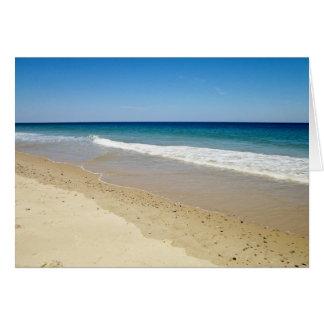 Beach photography card